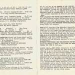 AHS Band All State Methodist bulletin 1962