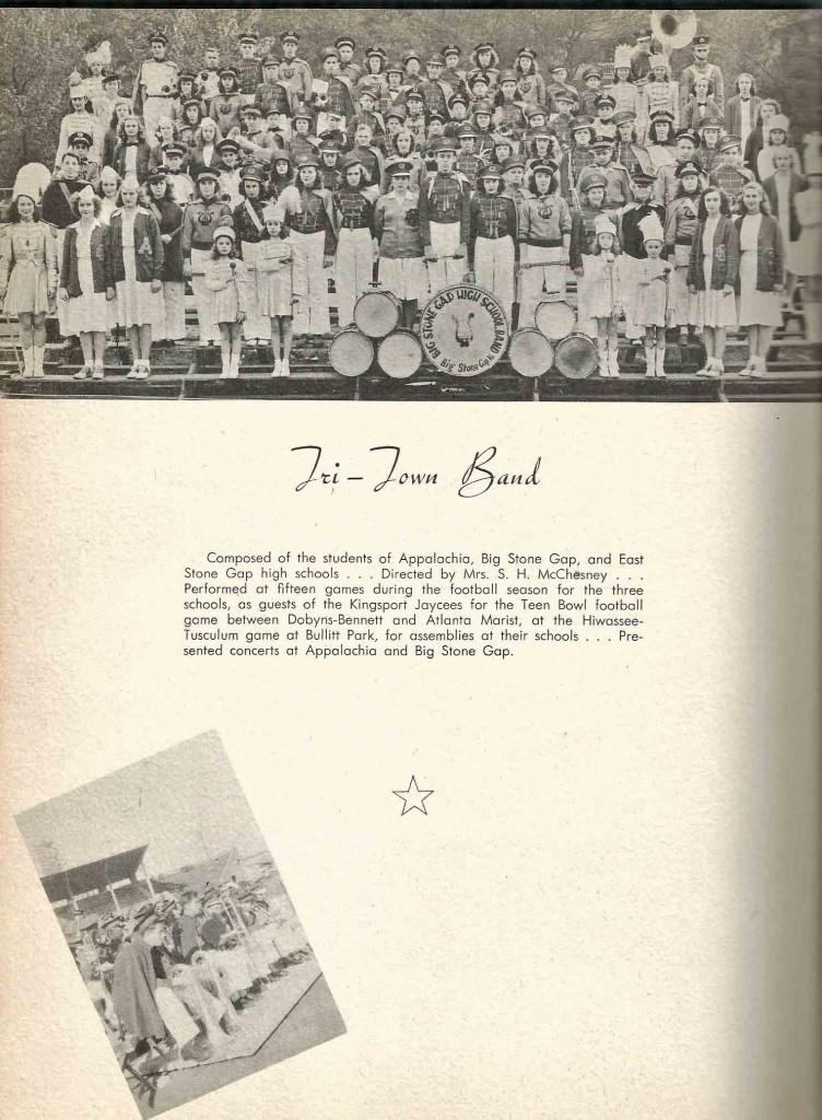 AHS band Tri Town Band 1948