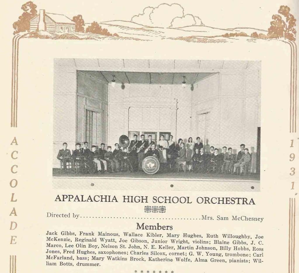 AHS band orchestra 1931