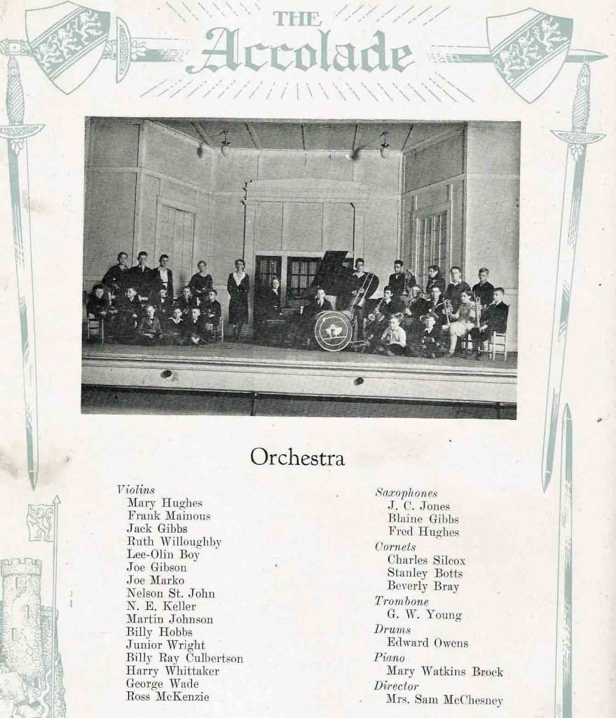 AHS band orchestra 1932