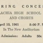 AHS Band 1961 ticket